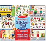 Reusable Sticker Pad - My Town: Activity Books - Coloring/Painting/Stickers
