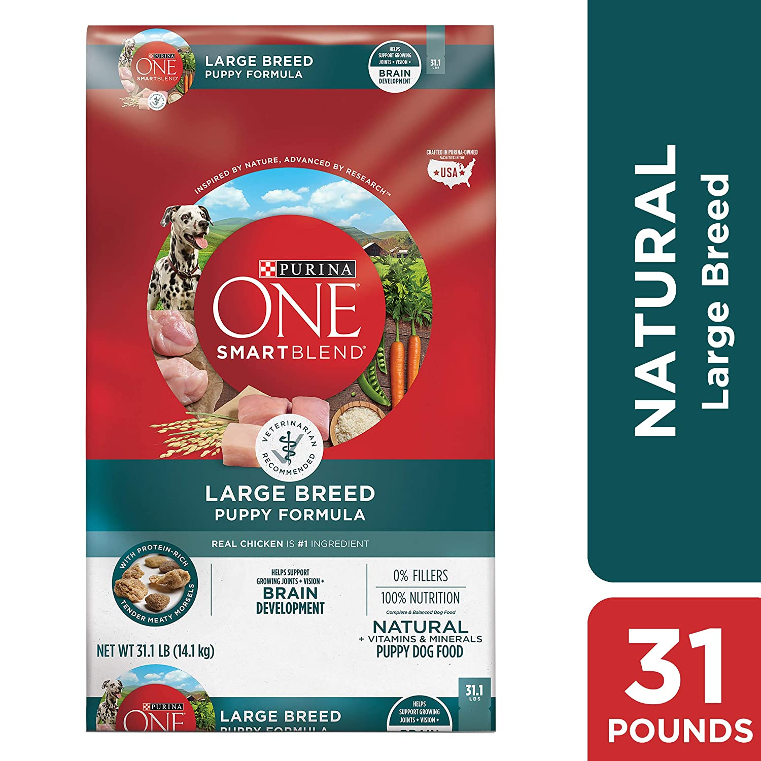 8. Purina ONE SmartBlend Large Breed Puppy Formula Dry Dog Food