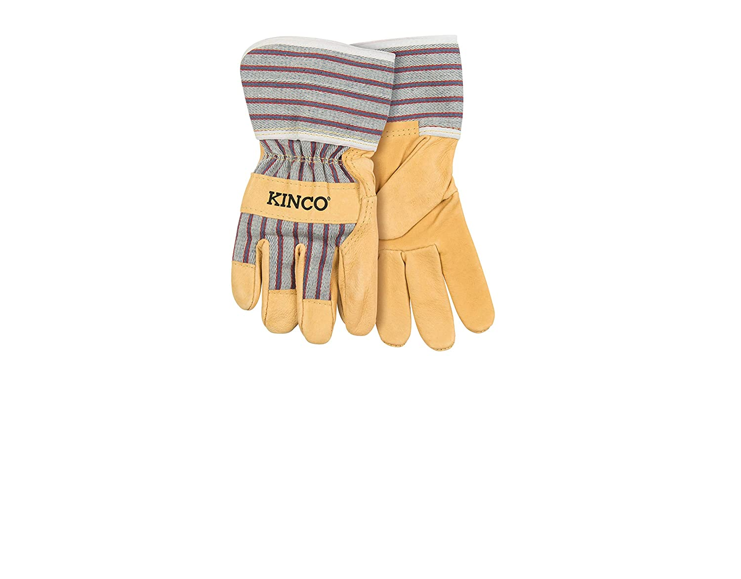 Kinco 1917 Youth Soft Durable Pigskin Leather with Safety Cuff and Wing Thumb Gloves 1 Pair