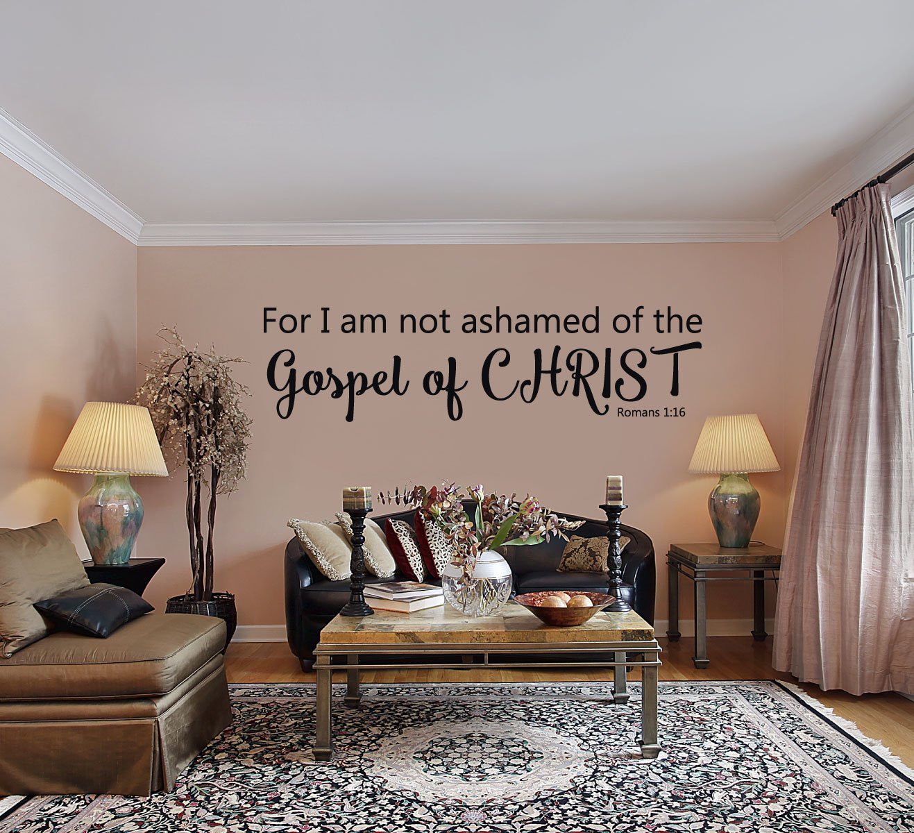 Amazon com: Bible Verse Wall Decals - Romans 1:16 - For I Am