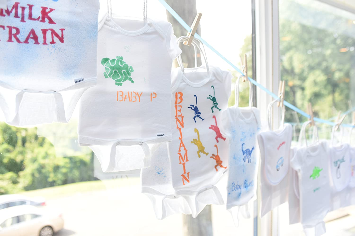 Baby Shower Onesie Decorating Station - The Perfect Baby Shower Activity! Baby Showers Inc. BSI001