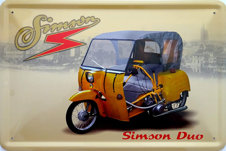 Vielesguenstig 2013 Blechschild Schild 20x30cm Krause Duo Simson Roller Ddr Mofa Moped Küche Haushalt