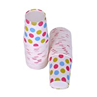 Origami Polka Dot Printed Disposable Paper Cups 200Ml Each - 100 Pieces