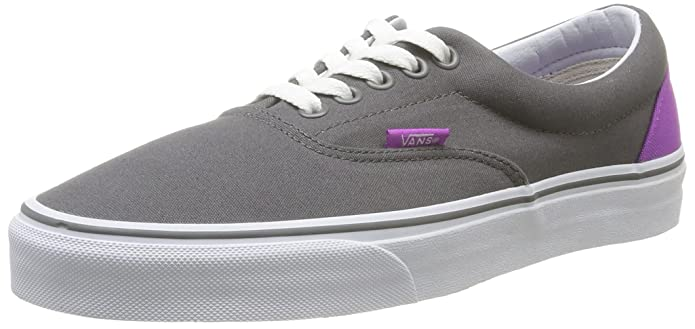 Women's Era Skateboarding Shoe (Heel Pop) Pewter/Neon Purple