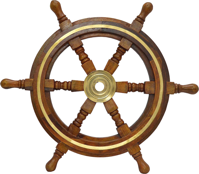 Pirate Wheel Marine Steering Wheels Pirate Ships Boat Steering Wheel Ship Wheel Decor Nautical Wheel Steering Wheel on a Boat (12 inch Dia)