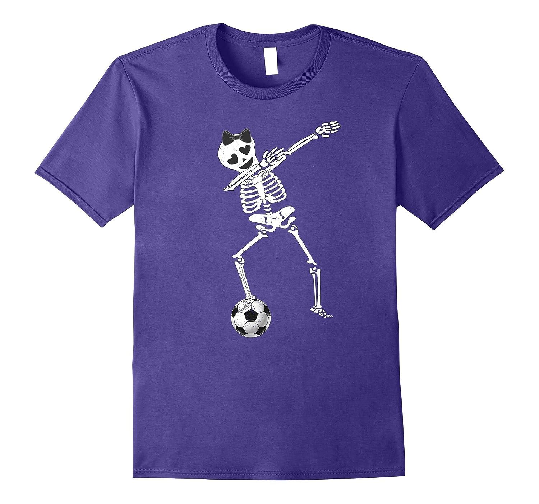 Halloween Dabbing Skeleton Soccer Shirt Dabbing Skeleton Tee-TJ