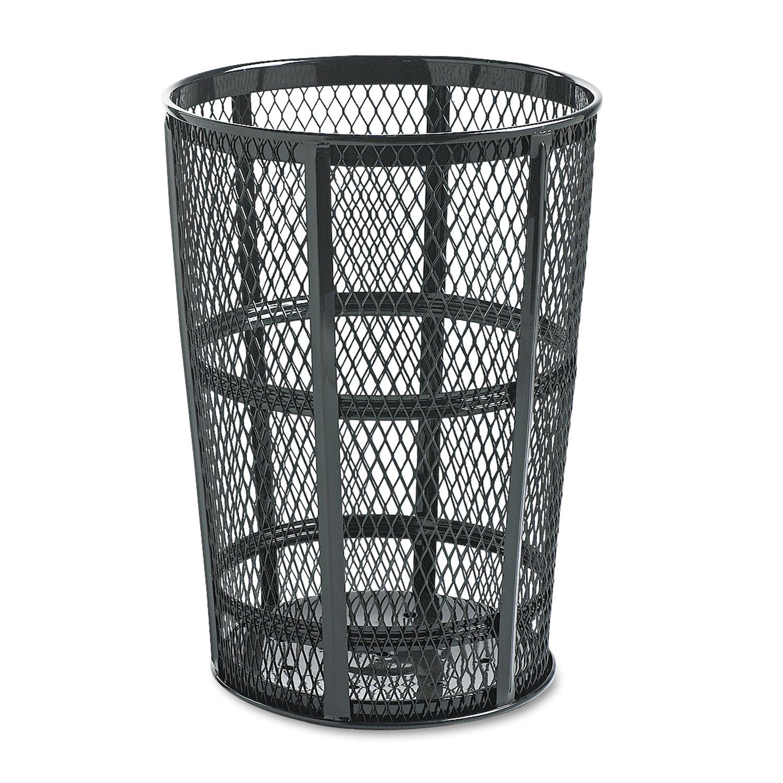 Rubbermaid Commercial Street Basket Trash Can, 45 Gallon, Black, FGSBR52BK