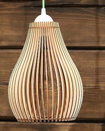Holz Lampe Modern Deckenleuchte Klein Classic EKO Anhnger