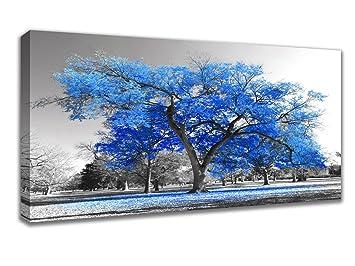 Modern Landscape Art Blue