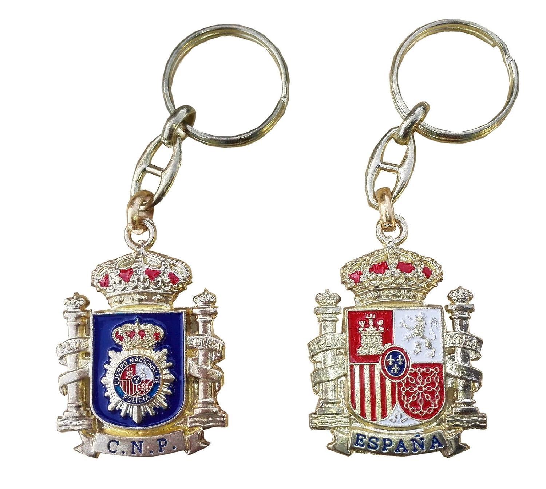 Llavero Emblema Policia Nacional y Escudo de España