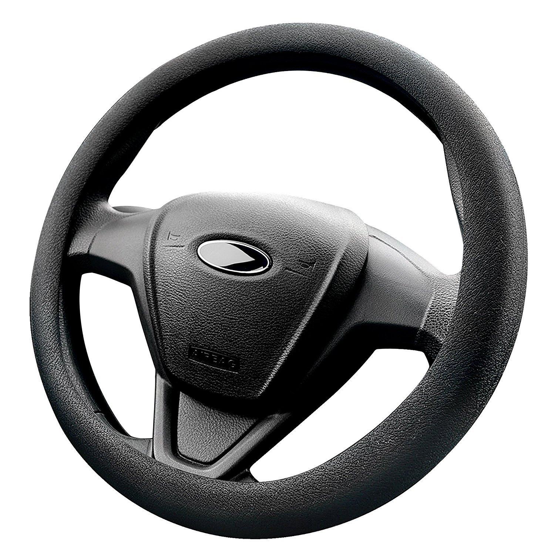 Mincome Funda Volante, La cubierta del volante para Coche, cuero de silicona, Diá metro de 38-42 cm, Negro Diámetro de 38-42 cm