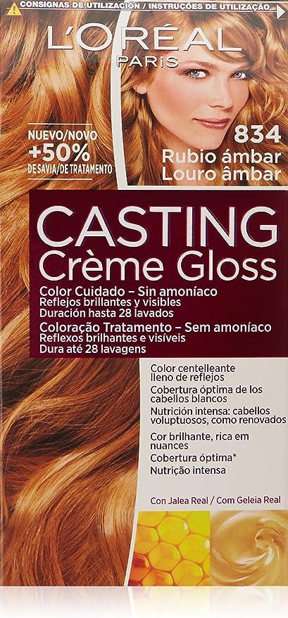 LOreal Paris Casting Crème Gloss Coloración Sin Amoniaco Casting Créme Gloss 834 Rubio Dorado