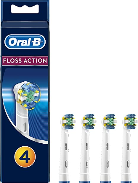 Oral B Genuine Floss Action Replacement Toothbrush Heads, Pack of 4