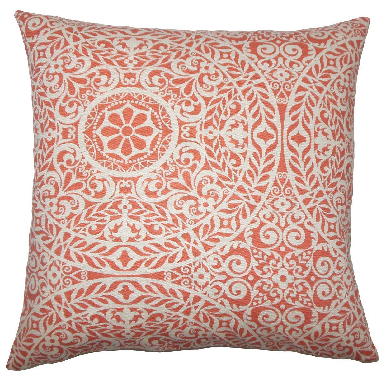 The Pillow Collection Kiasax Damask Bedding Sham Mango Euro//26 x 26