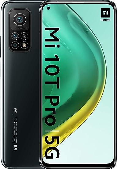 """Xiaomi Mi 10T Pro (Pantalla 6.67"""" FHD+ DotDisplay, 8GB+256GB, Cámara de 108MP, Snapdragon 865 5G, 5.000mAh con carga 33W) Negro [versión española], con Alexa Hands-Free"""