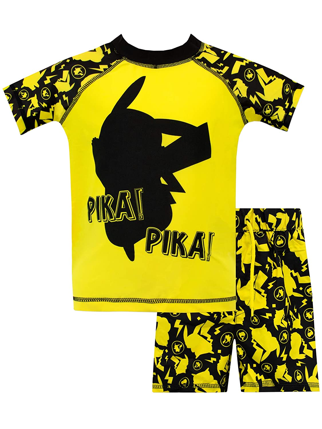 Pokemon Boys Pikachu Two Piece Swim Set