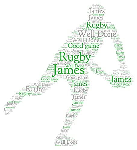 Personalised word art print rugby birthday congratulations well done personalised word art print rugby birthday congratulations well done gift keepsake card frame gumiabroncs Choice Image