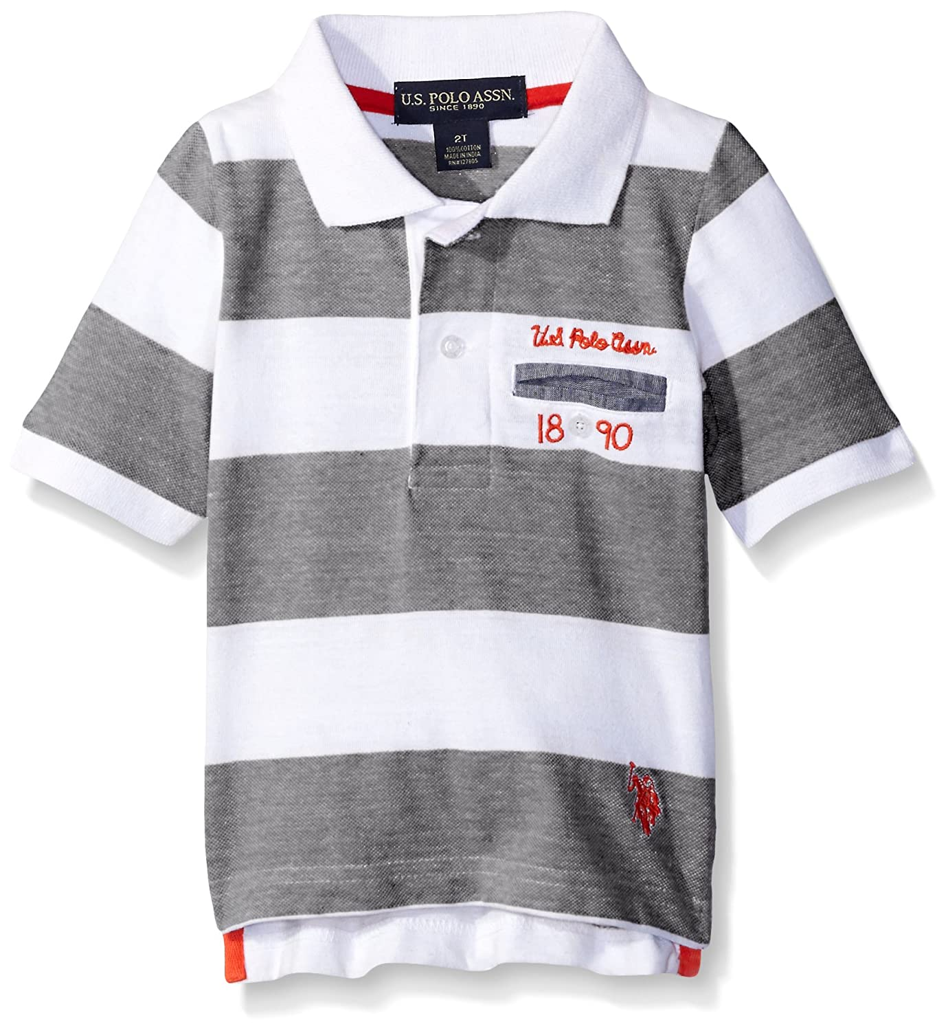 U.S. Polo Assn. Boys' Striped Jersey Polo Shirt SD57