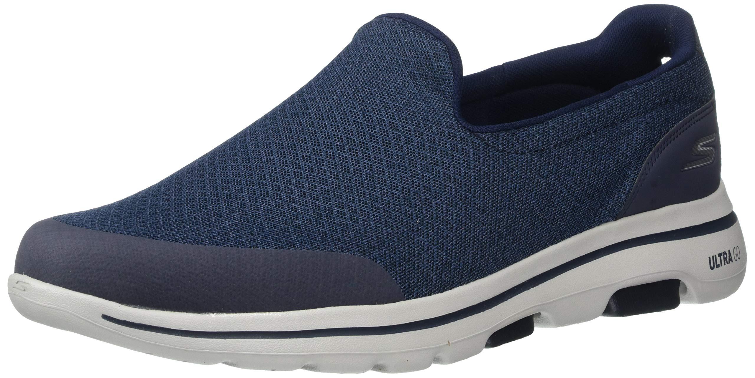 Skechers Men's GO Walk 5-55503 Shoe, Navy/White, 7 M US by Skechers