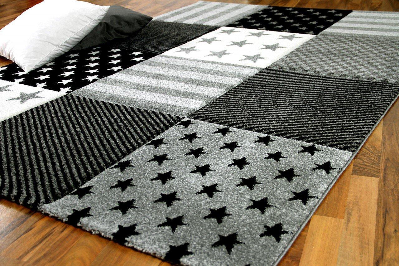 Maui in Kinder und Spiel Teppich Kids Grau Sterne in Maui 5 Größen 5d2691