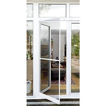 Xclou Cadre Moustiquaire Blanc Pour Porte Fenêtre En Aluminium X - Moustiquaire pour porte fenetre