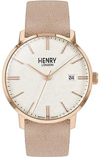 Henry London Reloj Analógico para Unisex de Cuarzo con Correa en ...