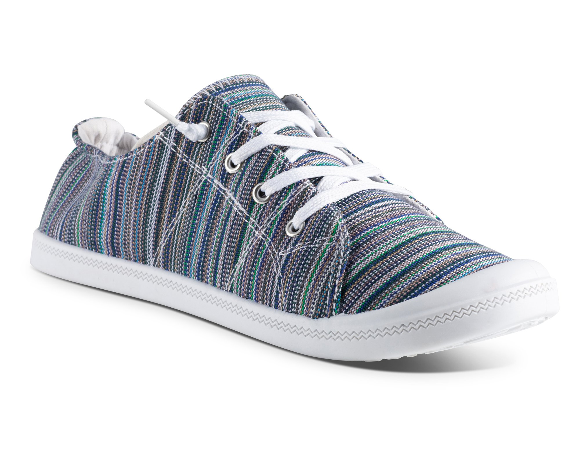 Twisted Womens Andrea Slip-On Canvas Sneakers - ANDREA04 Multi Stripe, Size 6