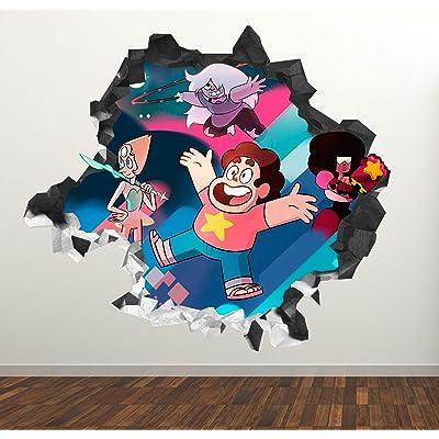 "Steven Universe Adventure Wall Decal Sticker - Kids Wall Decal Decor - Art 3D Vinyl Wall Decal - GS44 (Small (Wide 22"" x 16"" Height)): Home & Kitchen"