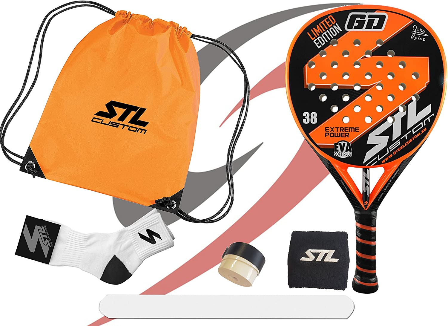Pack de Padel Steel Custom GD Edición Limitada Eva Soft Plus ...