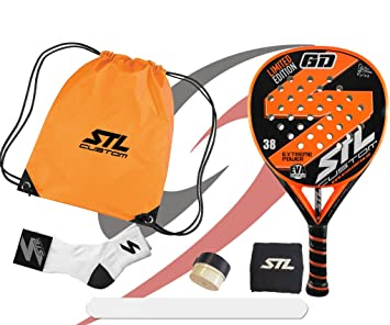 Pack de Padel Steel Custom GD Edición Limitada Eva Soft Plus Naranja: Amazon.es: Deportes y aire libre
