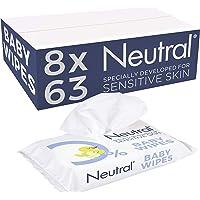 Neutral Baby Billendoekjes Parfumvrij, voor de gevoeilige huid - 8 x 63 doekjes - 504 stuks