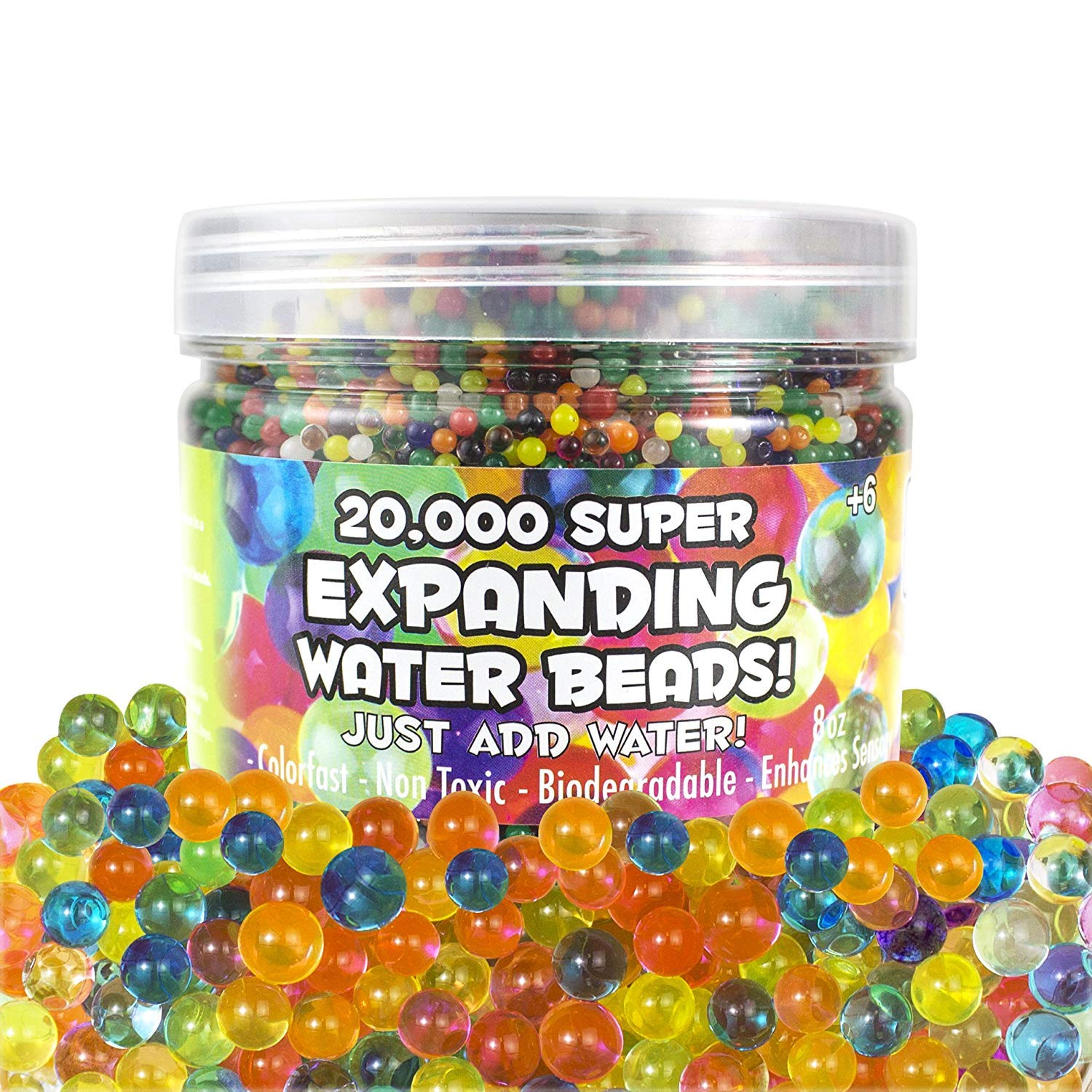 OIG Brands Water Beads for Kids 20 000 Pack Growing Gel Balls for Home Decoration Vase Fillers and Spa Non Toxic