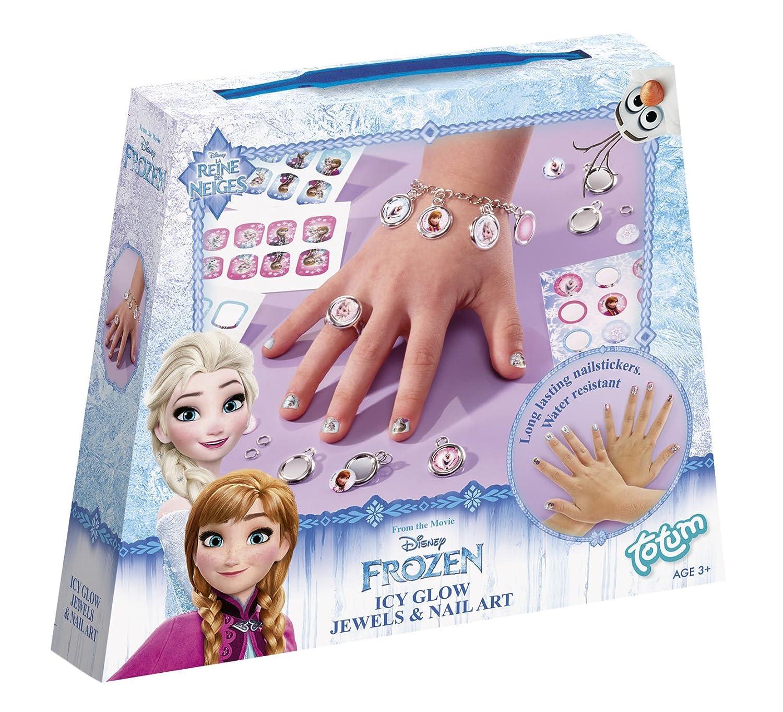 Totum- Disney Frozen / Die Eiskönigin / Bastel-Set: Schmuck Basteln + Nagelaufkleber 680111