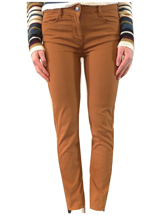 UNO PIÙ UNO - Pantalon - Femme Orange moutarde