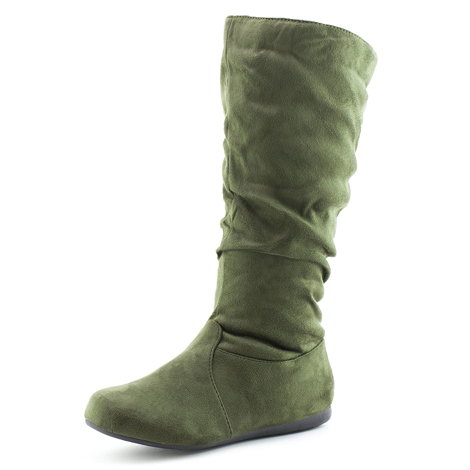 Generation19 Womens Mid Calf 13 Inch Faux Suede Boots (Adults)