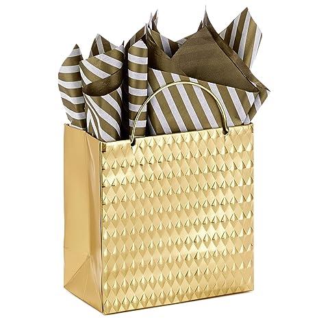 Amazon.com: Hallmark - Pequeña bolsa de regalo de Navidad ...