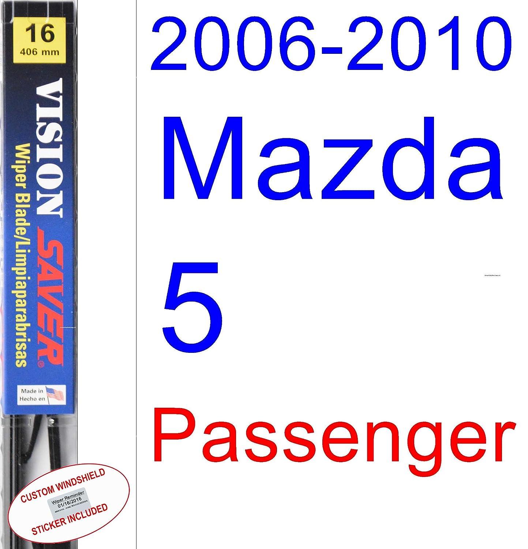Amazon.com: 2006-2010 Mazda 5 Wiper Blade (Driver) (Saver Automotive Products-Vision Saver) (2007,2008,2009): Automotive