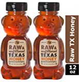 Desert Creek Honey Pack of 2, Honey Bears Containing Raw, Unfiltered, Unpasteurized Texas Honey, 12 oz.