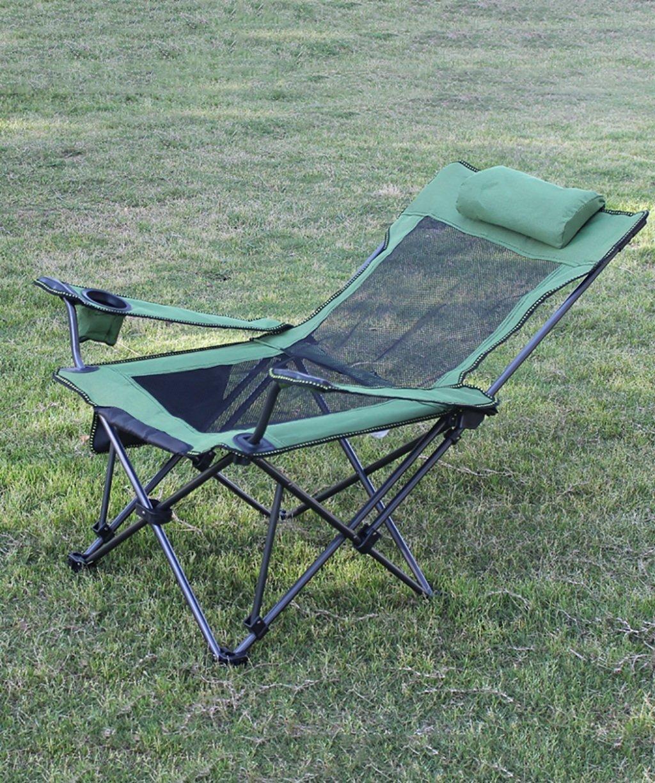QIANGDA 折りたたみ可能 ビーチチェア 二重使用 キャンプチェア サンラウンジャー デッキチェア 庭園 釣り オフィス 屋内/アウトドア (色 : 緑, サイズ さいず : A) B07D3PBPDW A|緑 緑 A