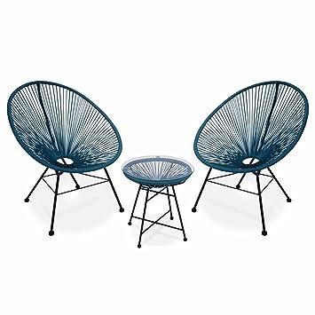 Alice's Garden Fauteuils Oeuf Table D'appoint Avec 2 Design nXw80PkO