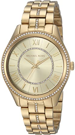 20eb1b5add9f Amazon.com: Michael Kors Women's Lauryn Quartz Watch with Stainless-Steel  Strap, Gold, 18 (Model: MK3719): Michael Kors: Watches