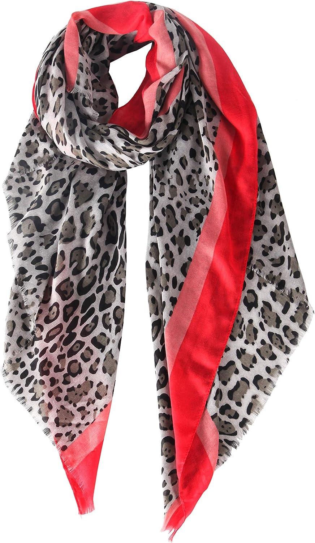 Women Scarf Leopard Print...