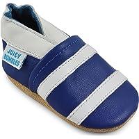 Zapatos de Bebé – Zapatillas de Cuero Niño Niña – Patucos de Piel con Elástico para Bebé - Zapatitos Primeros Pasos - Pantuflas Infantiles 0-6 Meses 6-12 Meses 12-18 Meses 18-24 Meses