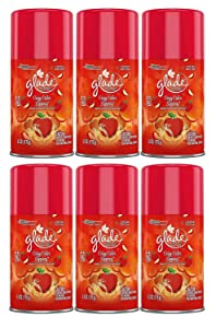 6 Glade Cozy Cider Sipping Nutmeg Apple Automatic Spray Air Freshener Refill 6.2