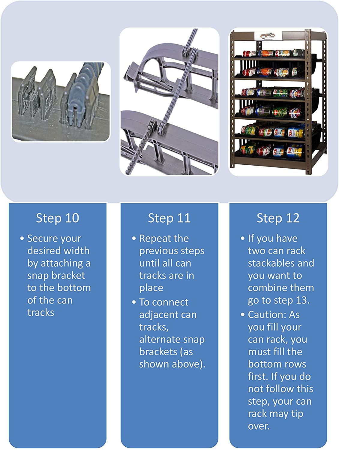 Amazon.com: Can Rack 200 by FIFO | Stores 200 Cans | Eliminates Waste | Organize, Rotate and Dispense Canned Goods First In First Out | Adjustable Tracks ...