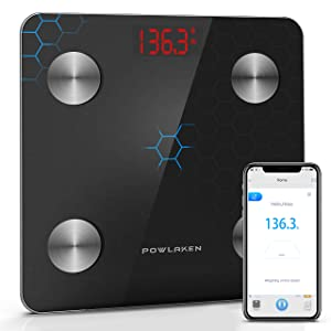 [Upgraded 2020 Version] Body Fat Scale Smart BMI Scale Digital Bathroom Wireless Weight Scale, Body Composition Analyzer with Smartphone App sync with Bluetooth App for Water, Muscle Mass (400 lbs)