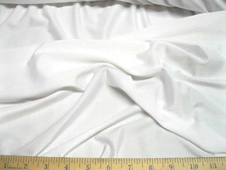 SOLID HEAVY JUMBO NYLON SPANDEX FABRIC White BY THE YARD DRESS DECOR FASHION