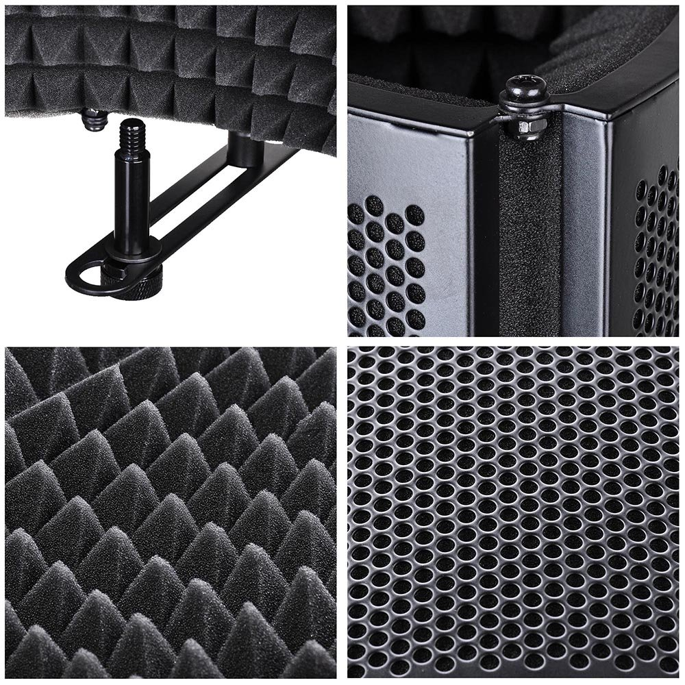 AW Studio Microphone Isolation Shield Acoustic Foam Panel Soundproof Filter Recording Panel Stand Mount by AW (Image #5)