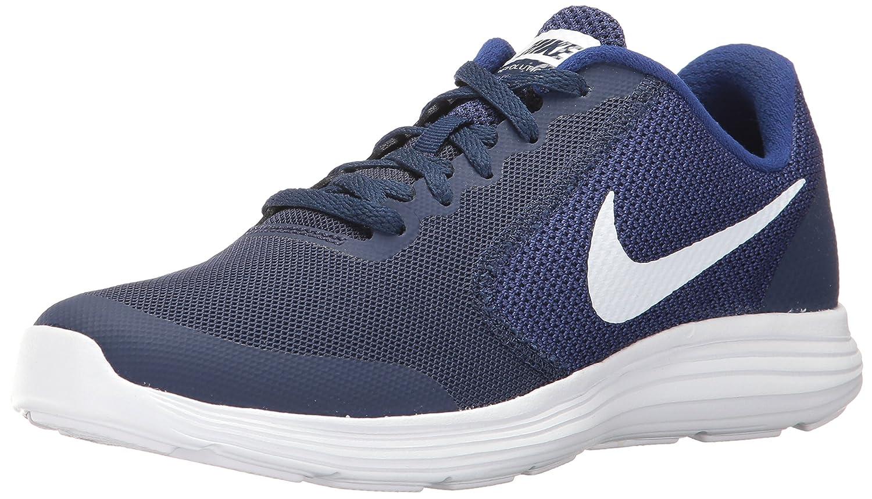 NIKE ' Revolution 3 (GS) Running Shoes B007KQ23Z2 4.5 M US Big Kid Binary Blue/White/Deep Royal Blue