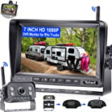 Wireless Backup Camera for RV HD 1080P with 7 Inch DVR Monitor High-Speed Rear View Observation System for RVs Trucks Trailer